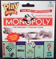 Play bites MONOPOLY scratch card