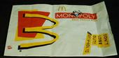 [McDonald's MONOPOLY best chance game bag]