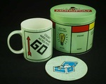 [MONOPOLY mug and coaster set]